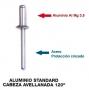 Aluminio standard cabeza avellanada 120º