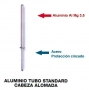 Aluminio tubo standard cabeza alomada